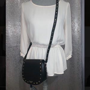NWT Victoria's Secret black studded crossbody bag